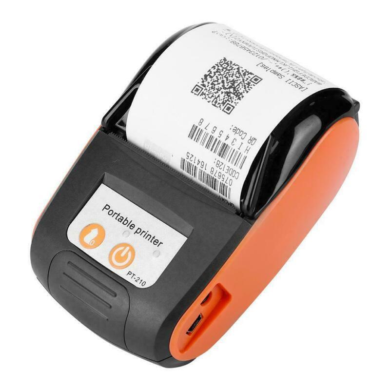 58mm Handheld Bluetooth Wireless Pocket Mobile POS Thermal Receipt Printer Black