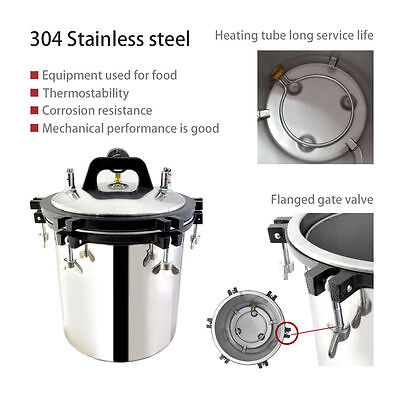 Good Professional 18l Steam Autoclave Sterilizer Tattoo Dental Lab Equipment