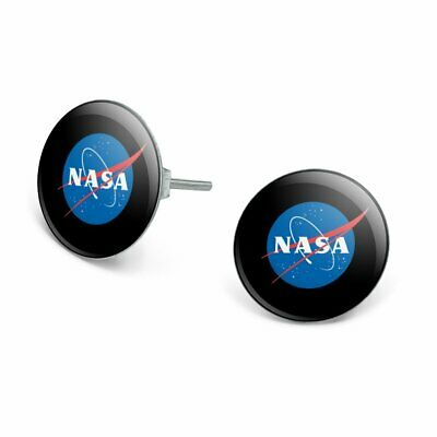 Official Logo Earrings (NASA Official Meatball Logo Novelty Silver Plated Stud Earrings )