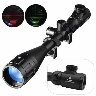 Best AOEG Optics Hunting Rifle Scope Red/Green Illuminated Crosshair Gun