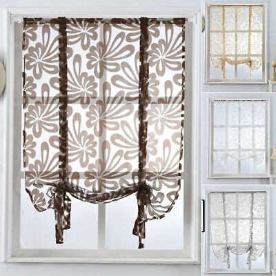 Fashion Floral Window Door Sheer Curtain Panels Divider Drape Home Decor Newly Curtains & Drapes
