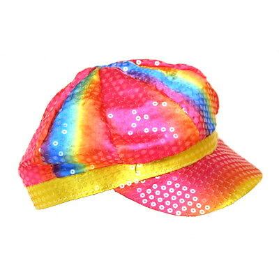 Rainbow Sequin Newsboy Hat](Sequin Hats)