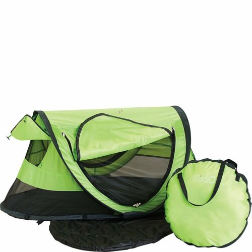 KidCo Baby Pea Pod Plus Infant/Child Screened in Travel Bed/Tent in Kiwi