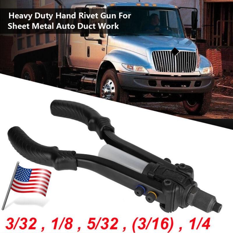 "Hand Riveter Pop Rivet Gun 3/32"" 1/8"" 5/32"" 3/16"" 7/32"" 1/4"" Sizes Heavy Duty"