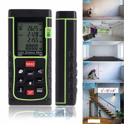 Laser Distance Meter Rangefinder Handheld 40m Trena Measure Tape Tester Tool Us