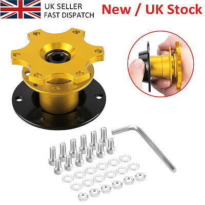 Car Steering Wheel Quick Release Removable Hub Adapter Snap Off Boss Kit Gold E