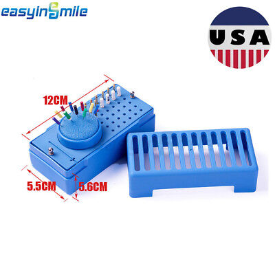 1x Dental Endo File Holder Disinfection Rack Cleaning Box Round Sponge Autoclave