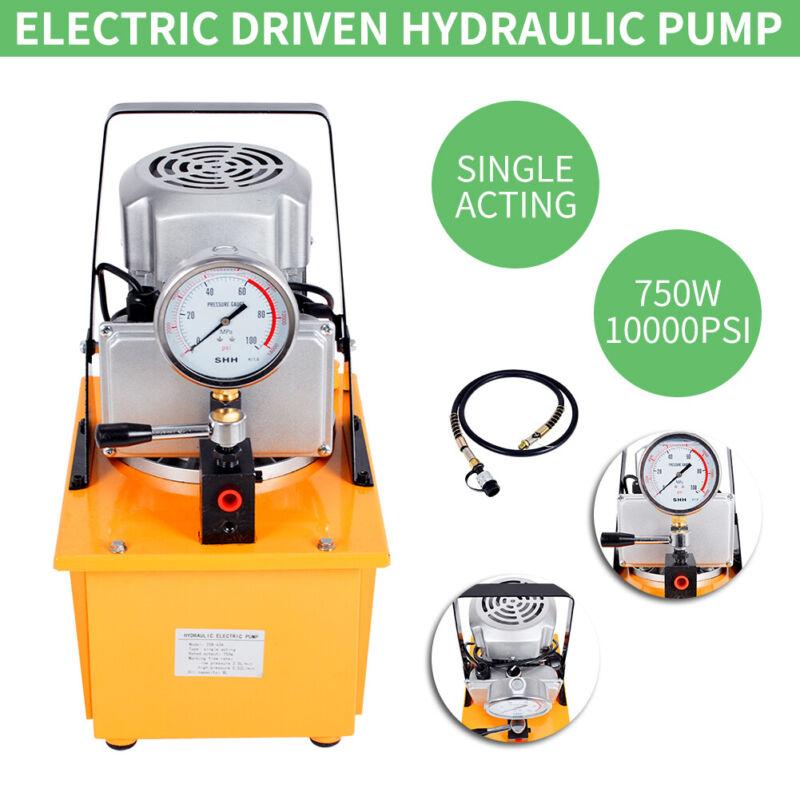 10000PSI Electric Driven Hydraulic Pump Single Acting Manual Valve 110V