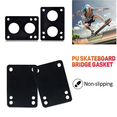 2Pcs 3/6mm Soft Skateboard Riser Pads Longboard Shock Proof Bridge Gaskets Well Outdoor Sports