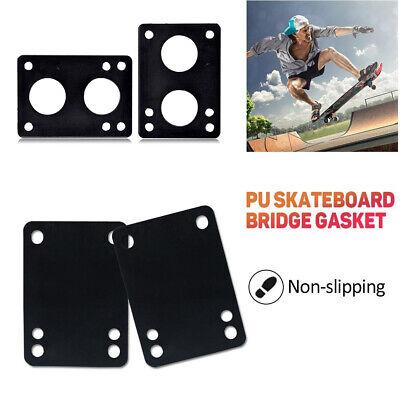 2Pcs 3/6mm Soft Skateboard Riser Pads Longboard Shock Proof Bridge Gaskets Well Outdoor Sports