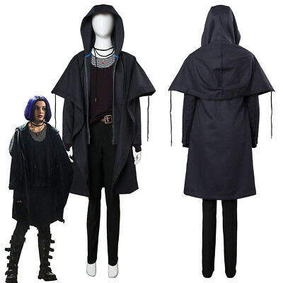 New Teen Titans Rachel Roth Raven Cosplay Costume Outfit Hooded Jacket Cloak