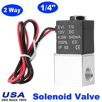 2 Way 14 Electric Normally Closed Pneumatic Solenoid Air Valve Aluminum Dc12v