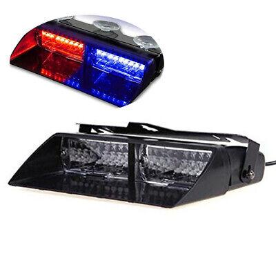 Emergency Vehicle Strobe Lights (Car 16-led 18 Flashing Mode Emergency Vehicle Dash Warning Strobe Light Red/Blue )