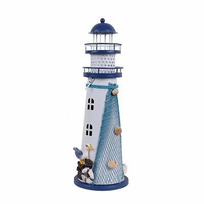 Wooden Lighthouse Decor, 11''H Nautical Themed Rooms Lighthouse Home Decor - Nautical Themed Decor