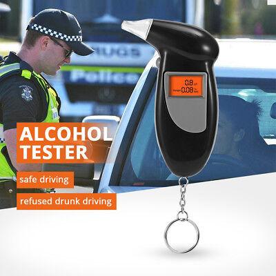 Digital LCD Police Breathalyzer Breath Test Alcohol Tester Analyzer Detector