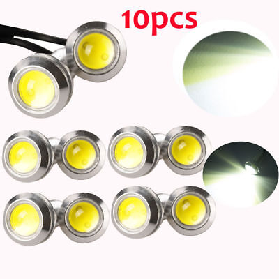 10x 12V Motor Car 9W LED Eagle Eye White Light Daytime Running DRL Backup Lights