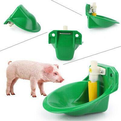 Automatic Water Drinker Waterer Bowl Fit Pig Goat Sheep Piglet Livestock Plastic