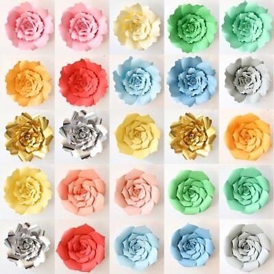 20/30/40cm Papier Rosen Blume DIY Hochzeit Geburtstag Party Hintergrund Dekor ()