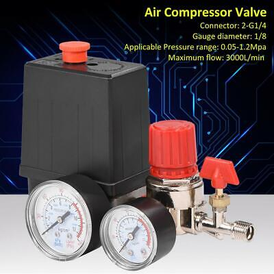Air Compressor Pressure Control Switch Valve Manifold Regulator Wgauges Relief