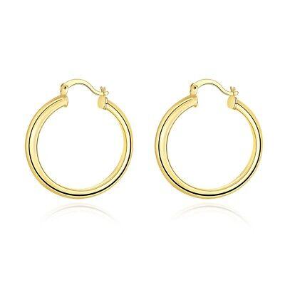 14k Gold Filled Italian - Italian 14k Yellow Gold Large Twist Hoop Earrings 35x 7MM 7.4 grams Gold Filled