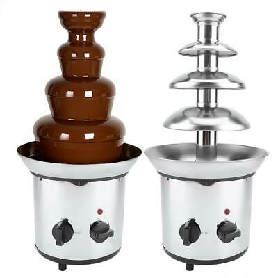 4 Tiers Commercial Stainless Steel Hot New Luxury Chocolate Fondue Fountain Chocolate Fondue Cocoa