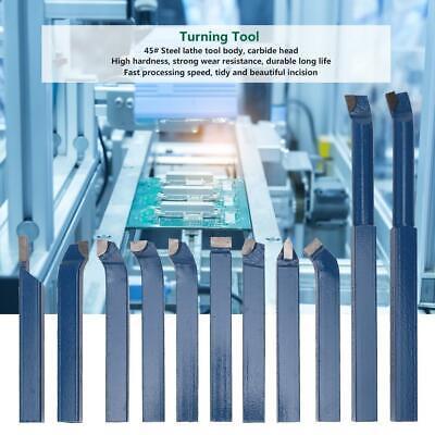 11pcs Mini Carbide Lathe Tool Set Tip Metal Cutting Turning Boring Cnc Bit