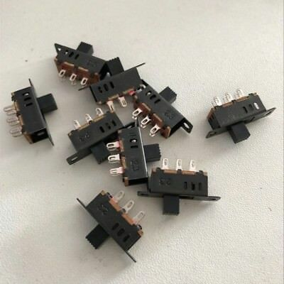 103 Position 2p3t Panel Mini Vertical Slide Switch 6 Solder Lug Pin Ss23d32-g5