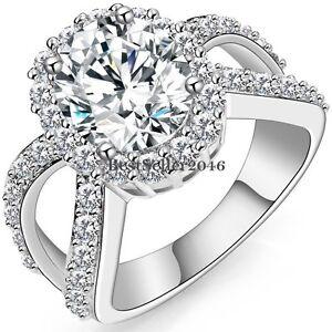 Silver-Tone-Infinity-Big-Round-Cubic-Zirconia-Ring-Engagement-Wedding ...: www.ebay.nl/itm/Silver-Tone-Infinity-Big-Round-Cubic-Zirconia-Ring...