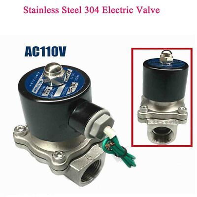New Bsp Air Gas Water Solenoid Valve Ac110v Normally Closed Electric Valve 34