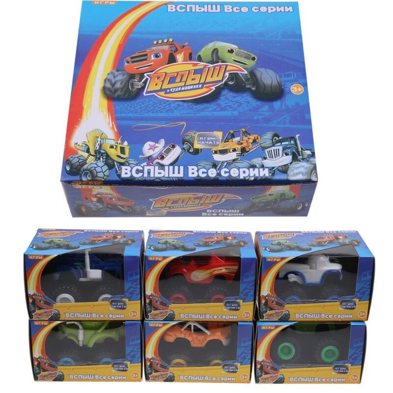 6Pcs Blaze and the Monster Machines Vehicles Diecast Toys Racer Trucks Xmas Gift