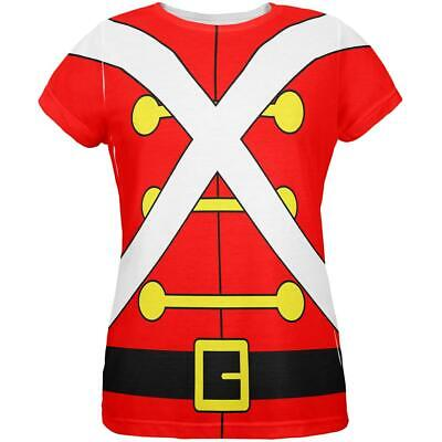 Christmas Toy Soldier Costume All Over Womens T Shirt