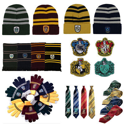 Harry Potter Cosplay Scarf Hat Tie Gryffindor Slytherin - Slytherin Hat