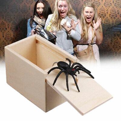 Fake Spider Prank Wooden Scary Box Joke Gag Trick Play Kids Adult Toy