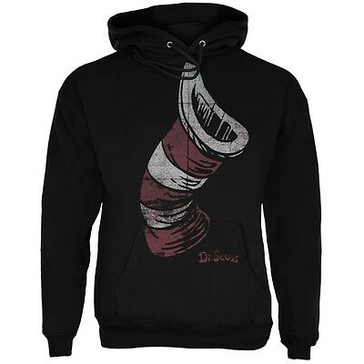 Dr Seuss - Cat In The Hat Distressed Hat Adult (Dr Seuss Hoodies)