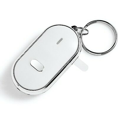 Key Finder Locator LED Find Lost Keys Chain Keychain Whistle Sound Control New