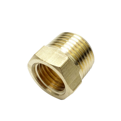 """1/4"""" Male bspt * 1/8"""" Female NPT Brass Reducing Bushing BSP To American Adapter"""