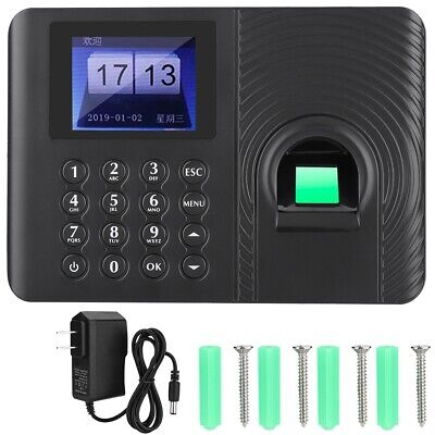 Biometric Fingerprint Time Attendance Recorder Time Clock Access Control System