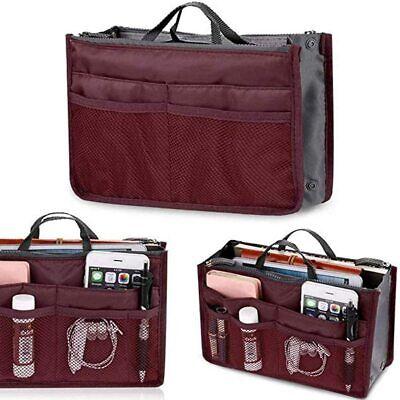 Organizer per borse Bag in organizza la borsa tasche interne ed esterne Bordeaux