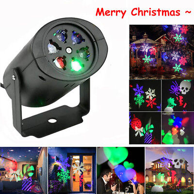 LED Snowflake Projector Christmas Moving Laser Projection Outdoor Indoor Light - Snowflake Light
