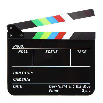 Acrylic Film Director Clapboard Dry Erase English Letter Movie Clapper Board Fun - Movie Director Clapboard