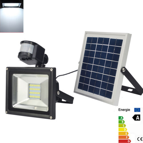 20w solar led fluter mit bewegungsmelder und akku au en strahler 12v highpower ebay. Black Bedroom Furniture Sets. Home Design Ideas