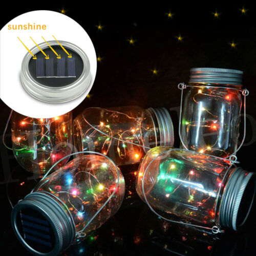 2m 20 led fairy light mason jar