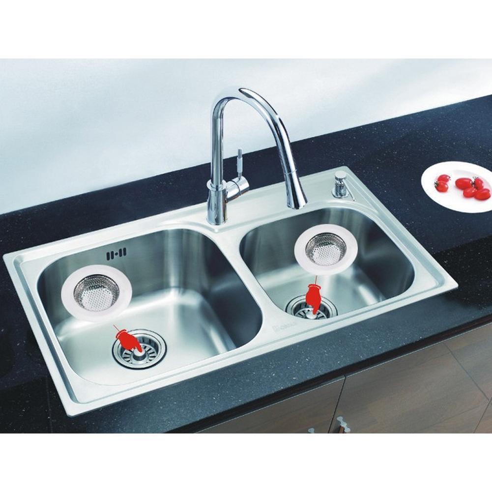 Kitchen Sink Waste: 2Pc Stainless Steel Kitchen Sink Strainer Waste Plug Drain