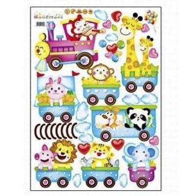 New Animal Wall Sticker Monkey Giraffe Tree Train Nursery Baby Kids Room Decor (Giraffe Nursery Decor)