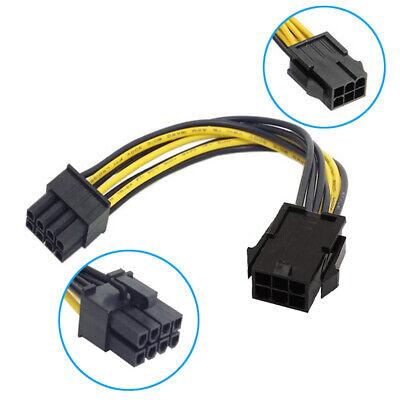 R10 6 Pin auf 8 Pin PCIE PCI Express Grafikkarte Stromkabel Adapter Strom Kabel