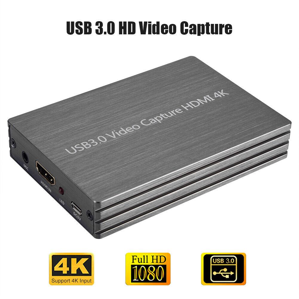 4K 2K USB3.0 to HDMI Game Capture Card Grabber 1080P HD Vide