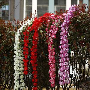 Artificial-Silk-Wisteria-Fake-Garden-Hanging-Flower-Plant-Ivy-Vine-Home-Decor