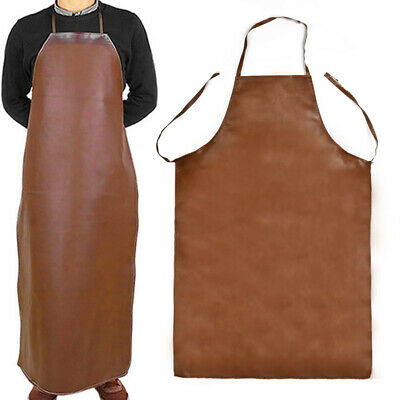 Welder Blacksmith Welding Apron Faux Leather Protection Clothes Workwear 100cm