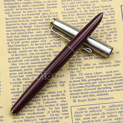 Quality goods Burgundy Hero 329 Stainless Cap Fountain Pens Pen New