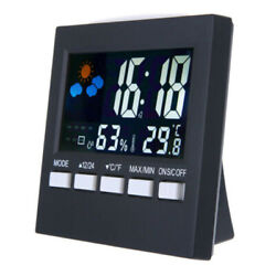 Wireless LED Digital Alarm Clock Weather Thermometer Snooze Backlight